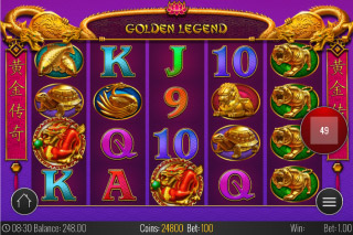 Golden Legend Mobile Slot Reels