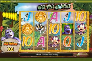 Gorilla Go Wild Mobile Slot Free Spins Bonus