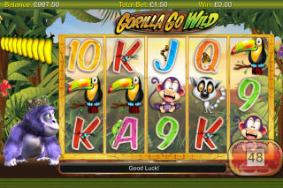 Gorilla Go Wild Mobile Slot Screenshot