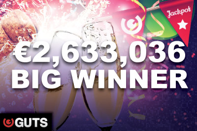 €2.6 Million Jackpots Slot Online Winner at Guts