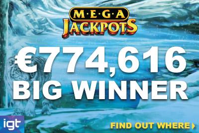 IGT MegaJackpots Siberian Storm Big Winner