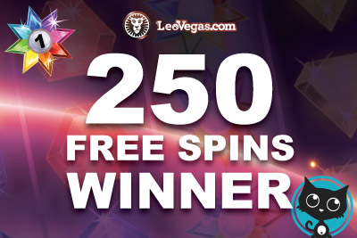 Our first 250 Free Spins Giveaway Winner