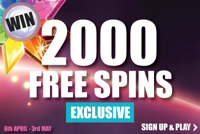 Win 2000 Free Spins Exclusively with Lucky Mobile Slots