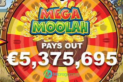 Microgaming Mega Moolah Pays Out €5,375,695