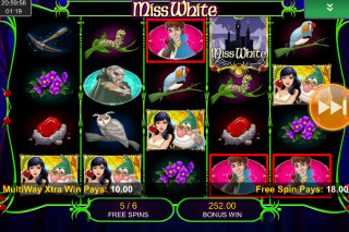 Miss White Mobile Slot Free Spins