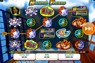 Natural Powers Mobile Slot Reels
