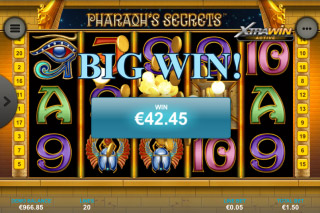 Pharaohs Secrets Mobile Slot Big Win