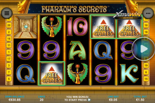 Pharaohs Secrets Mobile Slot Scatters