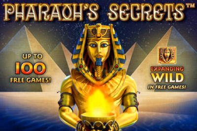 Pharaohs Secrets Mobile Slot Logo
