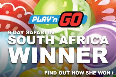 Play'n GO Slots Raffle 9 Day Safari Winner