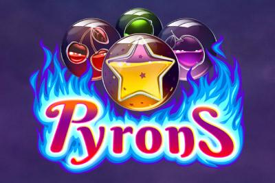 Pyrons Mobile Slot Logo