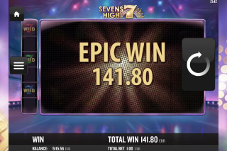 Sevens High Mobile Slot Epic Win