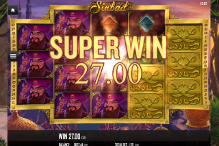 Sinbad Mobile Slot Super Win