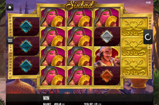 Sinbad Mobile Slot Reels Layout