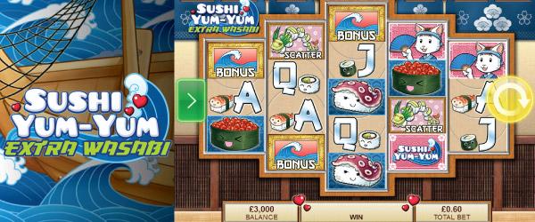 Sushi Yum-Yum Extra Wasabi Slot Machine