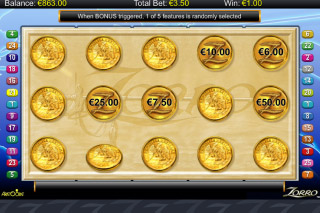 Zorro Mobile Slot Bonus Game