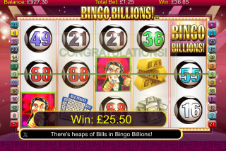 Bingo Billions Mobile Slot Free Spins