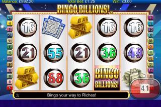 Bingo Billions Mobile Slot Reels
