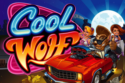 Cool Wolf Mobile Slot Logo