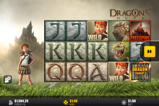 Dragons Myth Mobile Slot Reels