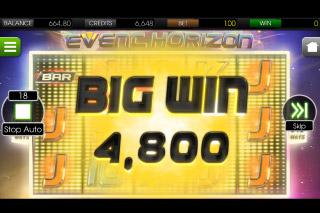 Event Horizon Mobile Slot Big Win