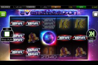 Event Horizon Mobile Slot Reels