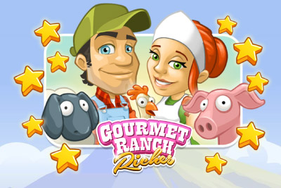 Gourmet Ranch Riches Mobile Slot Logo