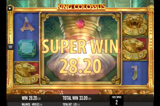 King Colossus Mobile Slot Free Spins Win