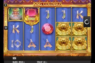 King Colossus Mobile Slot Reels