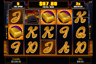 Liquid Gold Mobile Slot Free Spin Reels