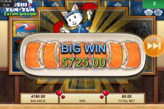 Sushi Yum Yum Mobile Slot Big Win