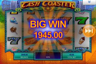 Cash Coaster Mobile Slot Big Win