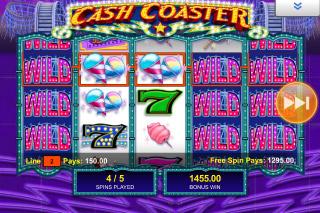 Cash Coaster Mobile Slot Free Spins
