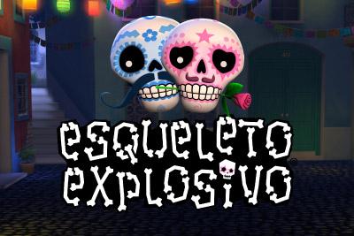Esqueleto Explosivo Mobile Slot Logo