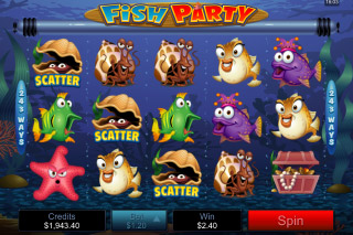 Fish Party Mobile Slot Scatters