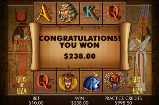 Gods of Giza Mobile Slot Win
