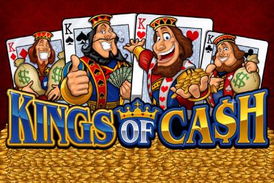 Kings of Cash Mobile Slot Logo