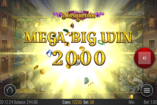 Royal Masquerade Mobile Slot Mega Big Win