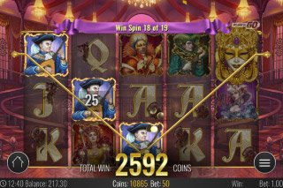 Royal Masquerade Mobile Slot Free Spins