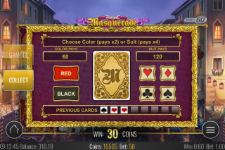 Royal Masquerade Mobile Slot Gamble Feature