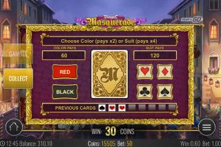Royal Masquerade Mobile Slot Gamble Feature