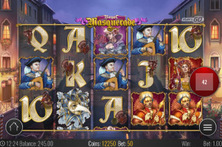 Royal Masquerade Mobile Slot Reels