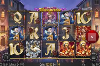Royal Masquerade Mobile Slot Reels