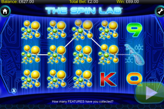 The Spin Lab Mobile Slot Stacked Symbols