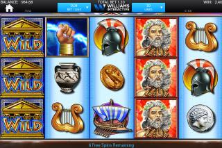 Zeus Mobile Slot Stacked Symbols
