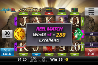 Age Of Spartans Mobile Slot Reel Match