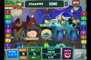 Alien Farm Invasion Mobile Slot Reels