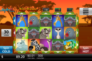 Big Game Mobile Slot Reels
