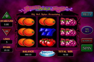 Black Magic Fruits Mobile Slot Reels