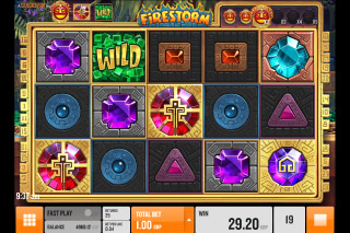 Firestorm Mobile Slot Reels